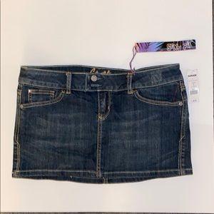 Garage blue denim mini skirt